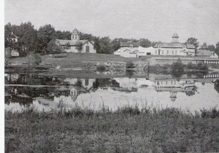Looking at Fair Grounds Across the Mill Pond