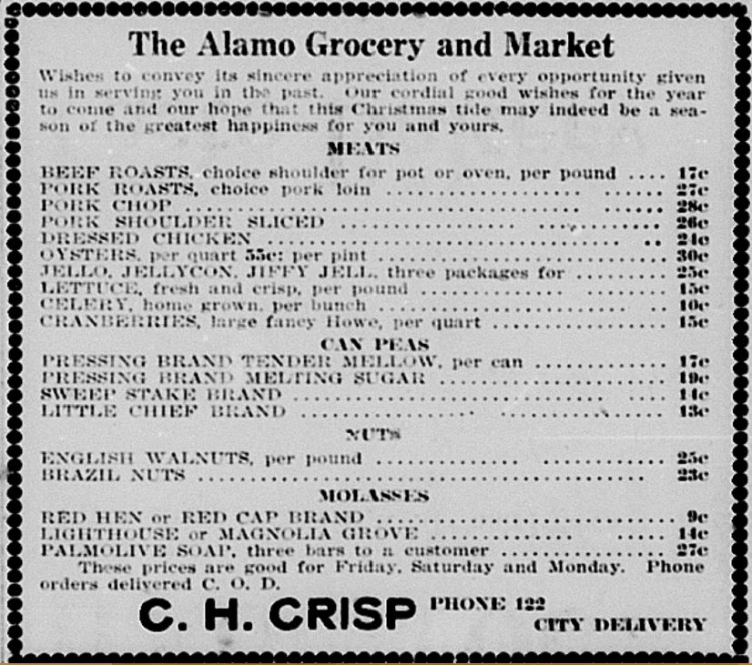 Grocery Delivered Hillsdale Daily News Dec 20 1917