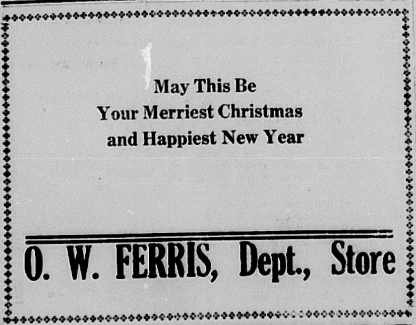 Merry Christmas Hillsdale Daily News Dec 24 1917