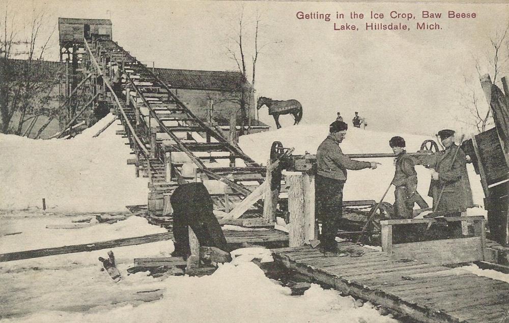 Harvesting Ice at Baw Beese Lake