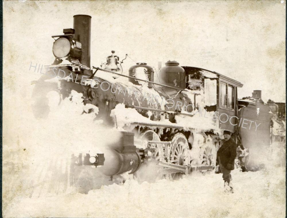 Early 1900's Train Hillsdale MI