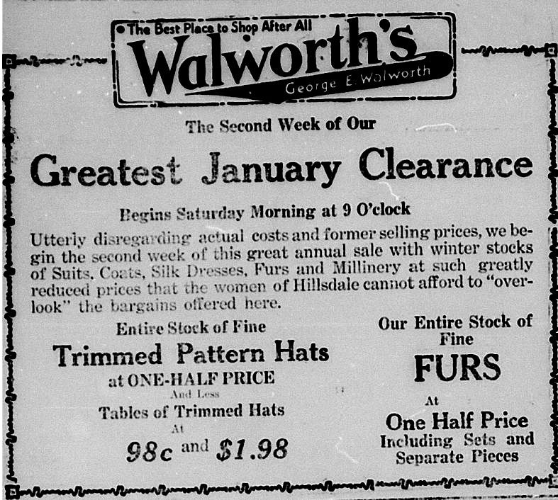 Clearance Sale HDN Jan 3 1918