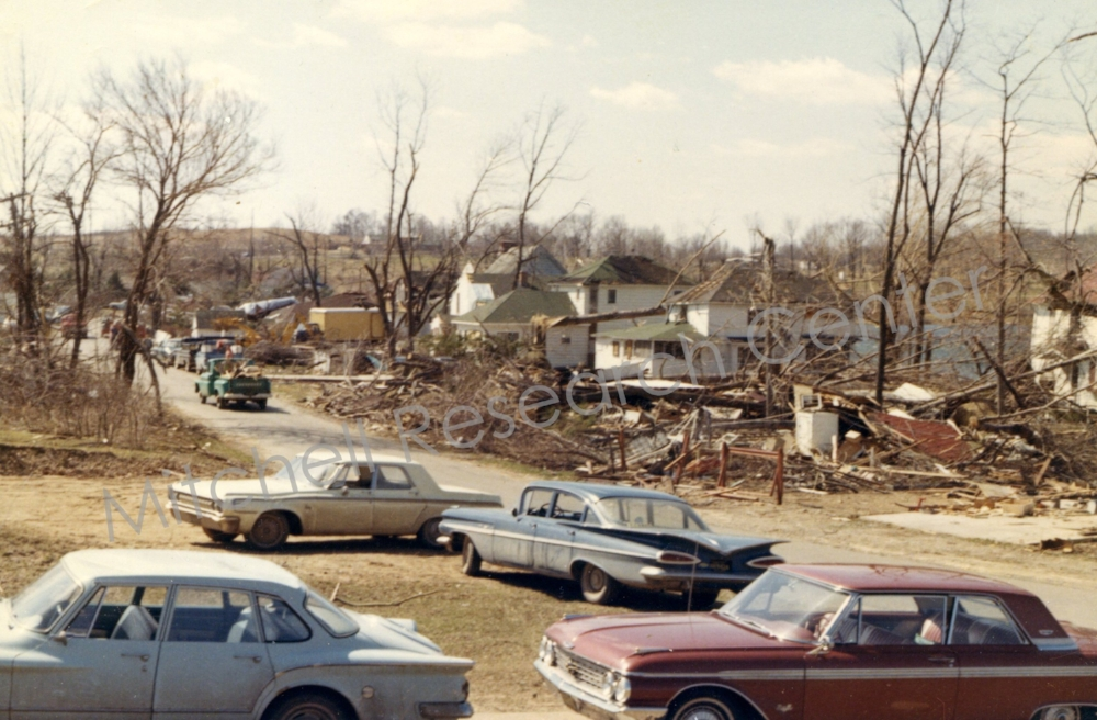 Cleaning up After 1965 Tornado's on Ash-Te-Wette
