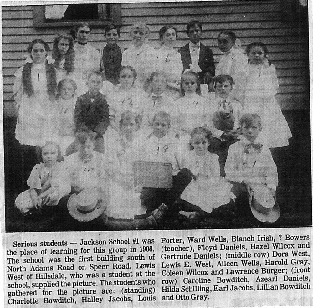 Jackson #1 School MRC Files