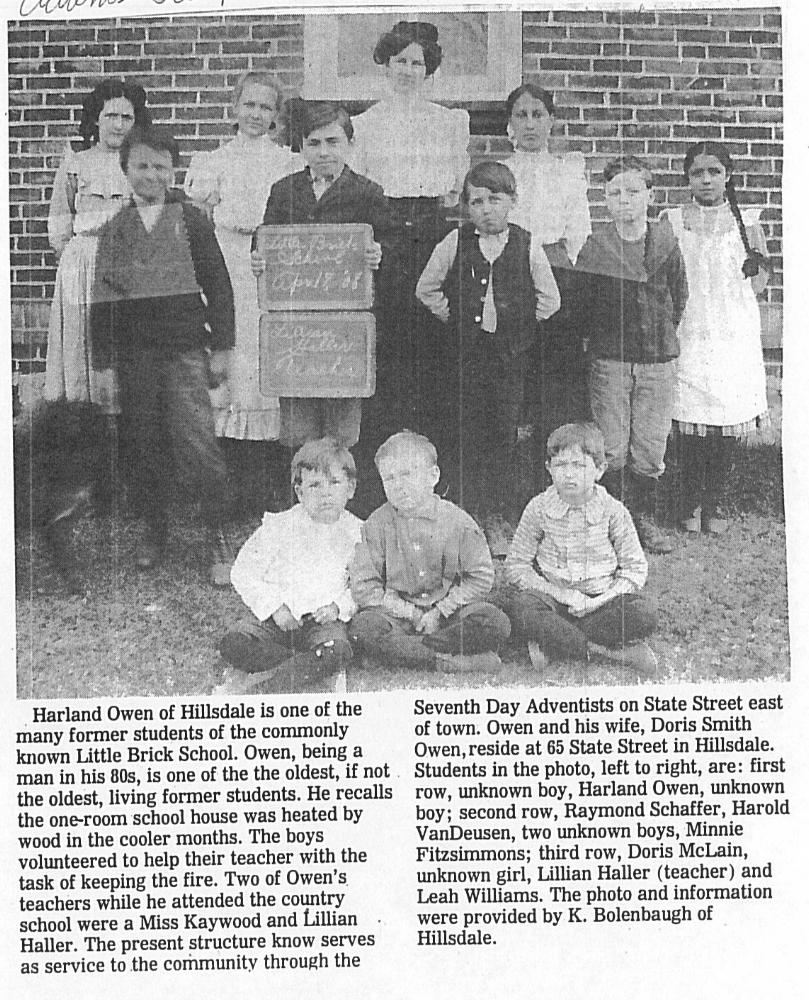Little Brick School Mitchell Research Center Files