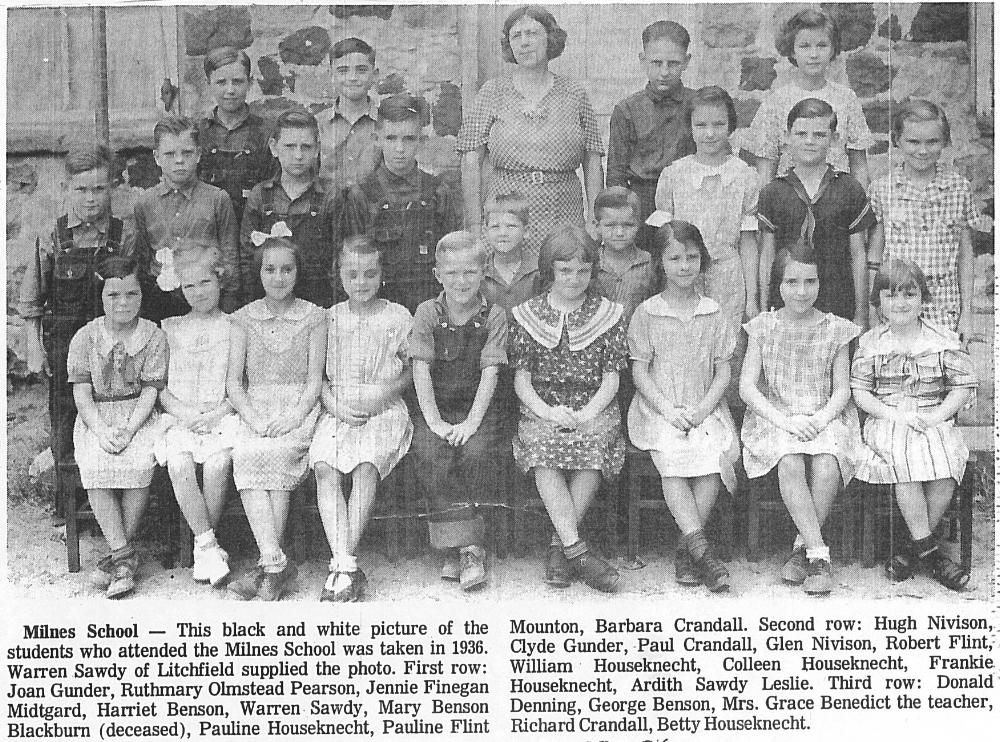 Milnes School 1936 Mitchell Research Center Files