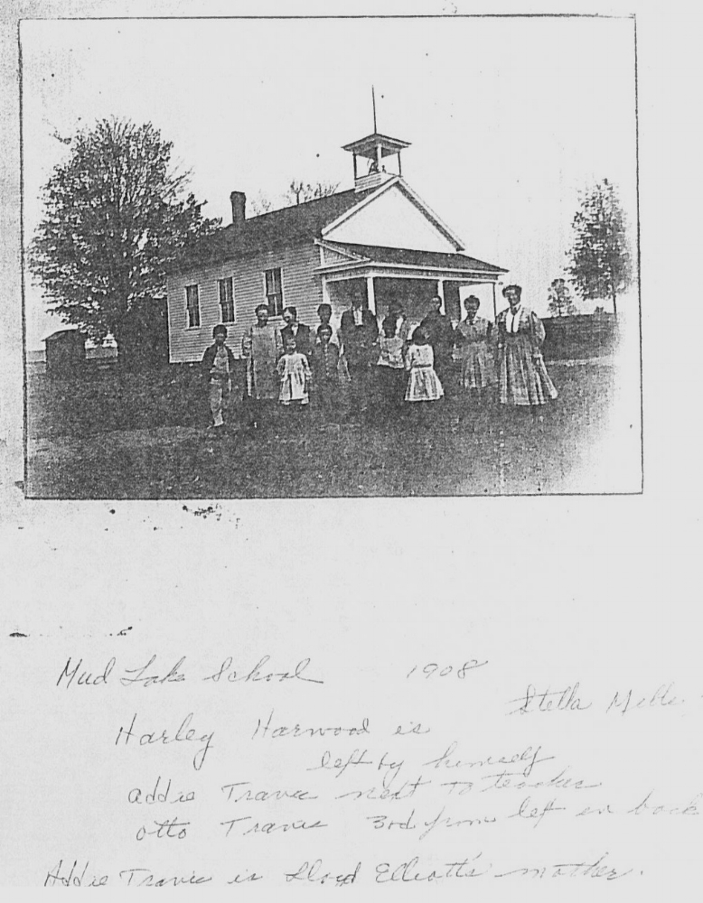 Mud Lake School 1908 Mitchell Research Center Files