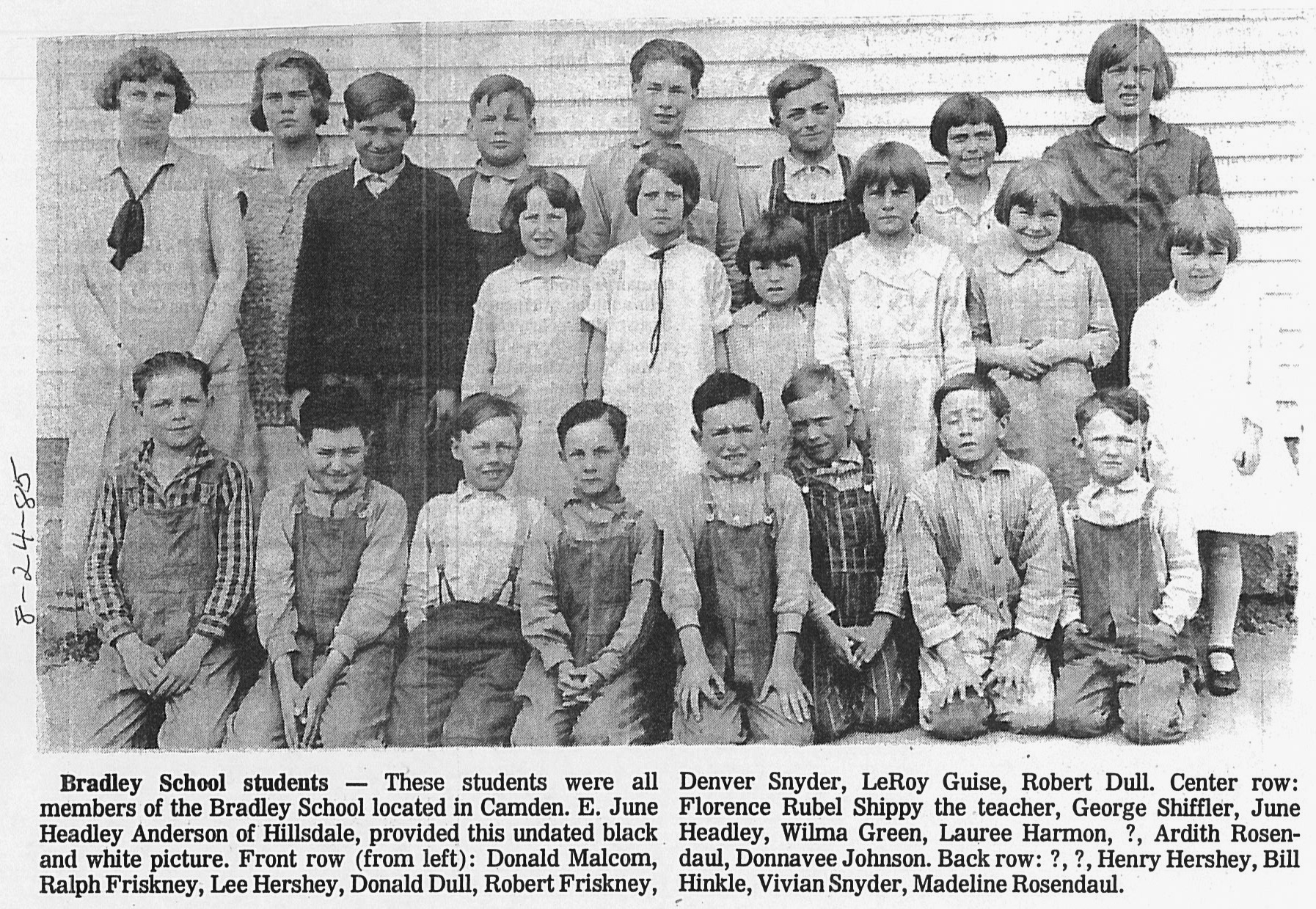 Bradley School HDN Aug. 24, 1985