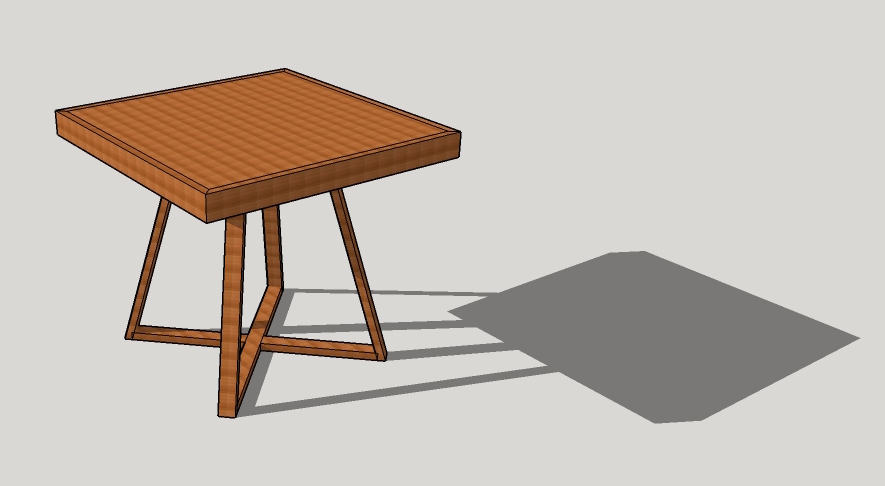 Prototype cafe table design, November 2015.