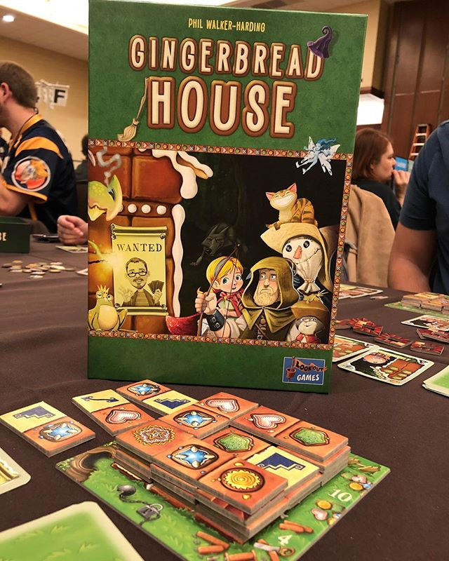 First game of BGGCon is Gingerbread House!