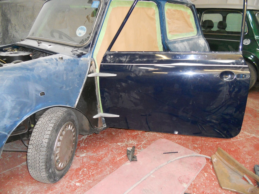 Mini Mayfair Door During Conversion