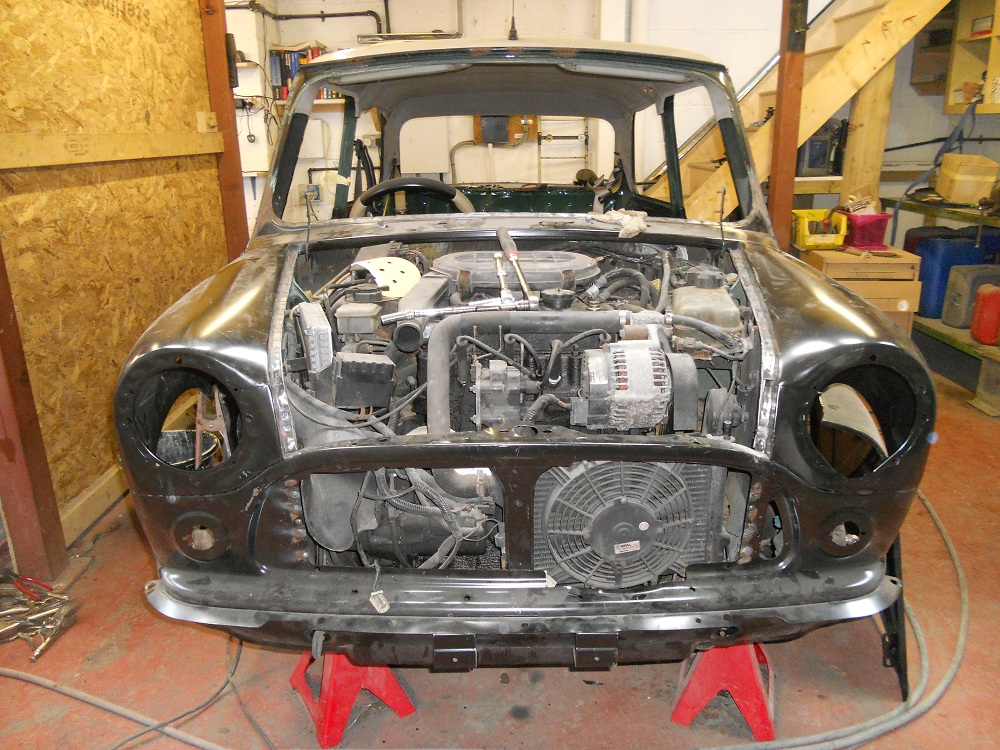 Front of Mini Sports Pack During Restoration by The Real Mini Company