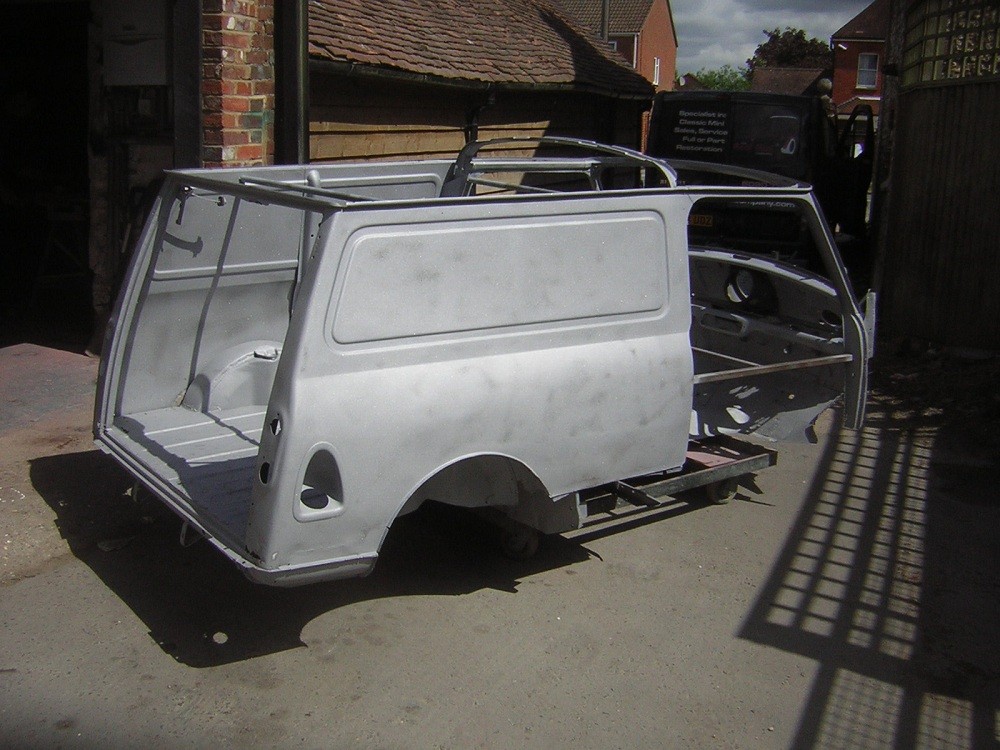 Mini Van Primed for Respray