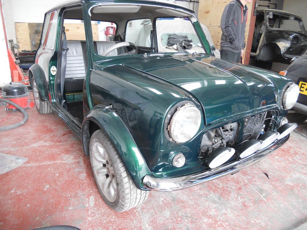 Front of Mini Cooper MPI Restored by The Real Mini Company
