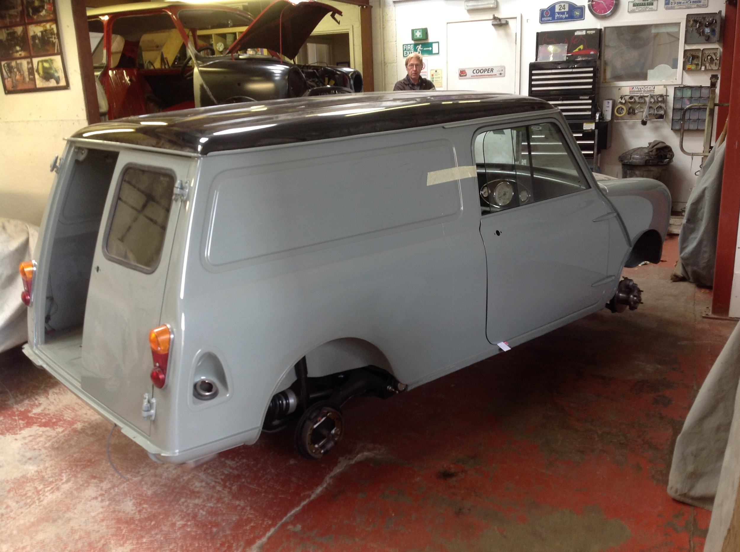 TRMC_Classic_Mini_Van_in_Workshop