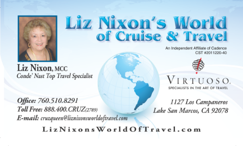 BBN North County Member - Liz Nixon's World of Travel