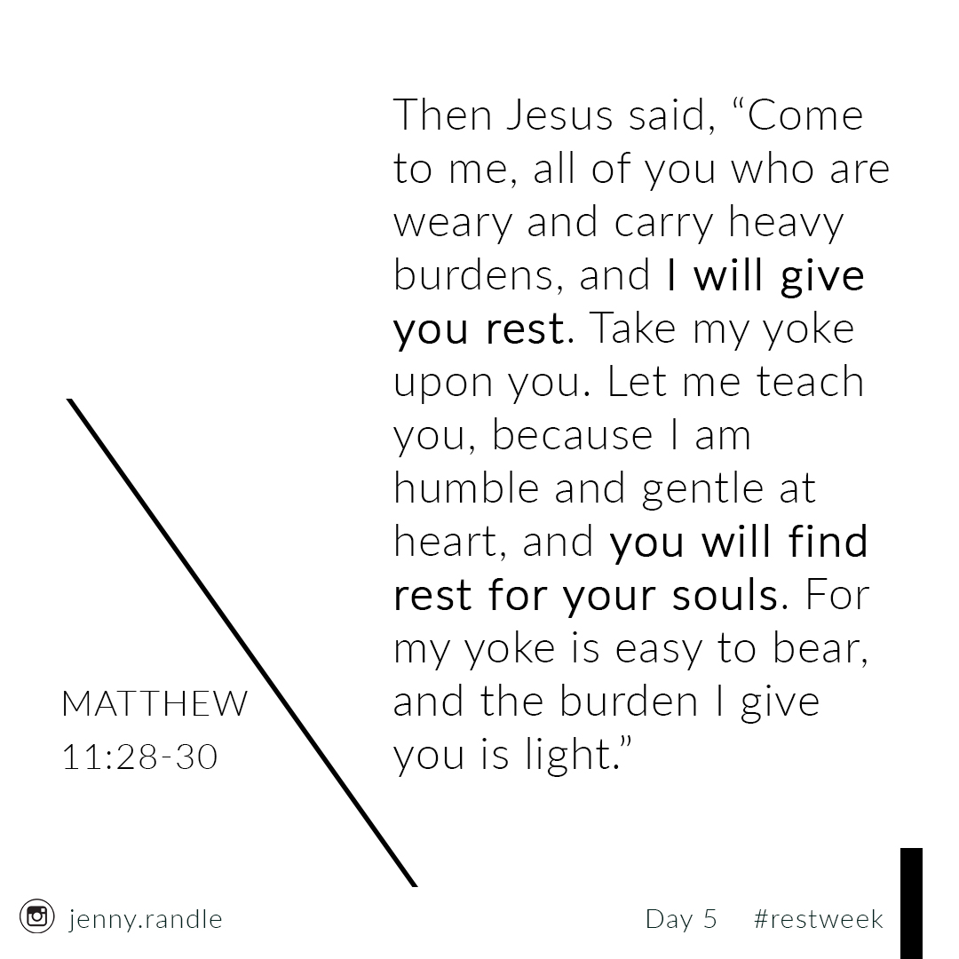 There's also a rest found in salvation. - You can't earn it or buy it. This rest depends on a rejection or acceptance of the Good News of the Gospel. It's a rest where there's no striving for love ... it's a gift of love that's given. This rest is eternal and found in relationship with Christ.
