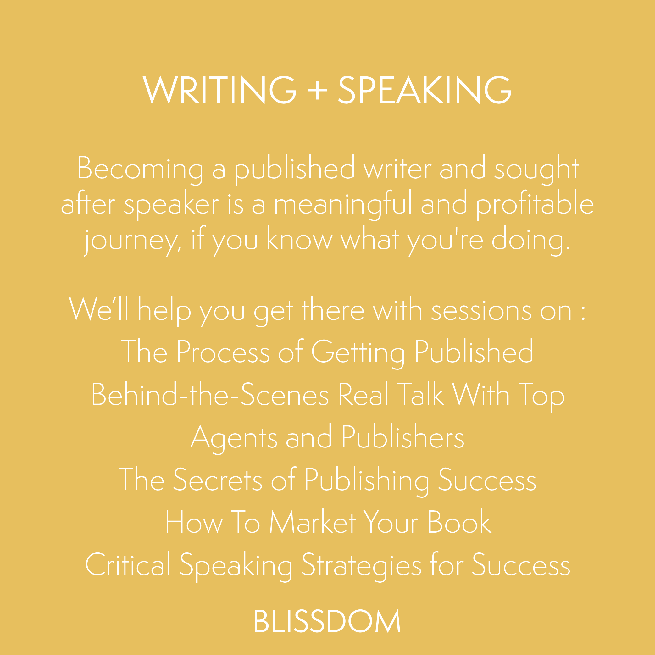 Writing-Speaking-Blissdom-Track