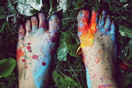 paint on foot.JPG