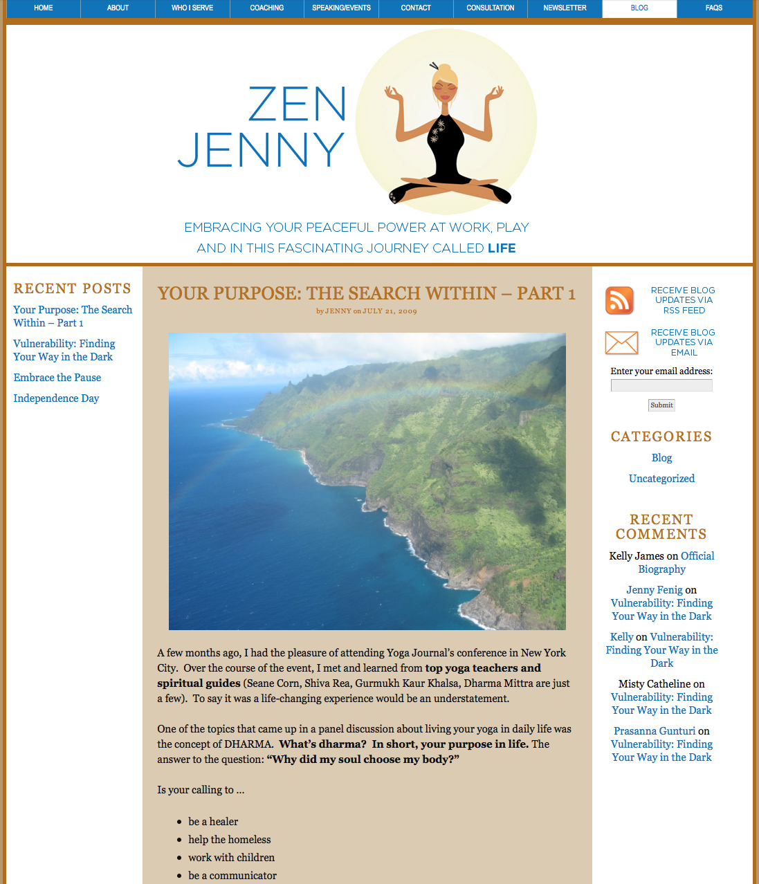 "Jenny's Blog used to be ""Zen Jenny"" I love it and how she has grown into a world class brand today!"