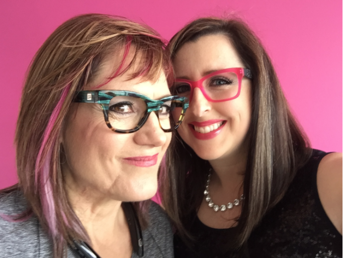 Michele Julian + Julia Slike,  life/business coaches for multi-passionate, multi-business women obsessed with transforming their hair #byebyebadhair