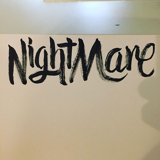 Well after spending two hours up with the screaming boy I thought of this. #type #goodtype #typography #brushpen #calligraphy