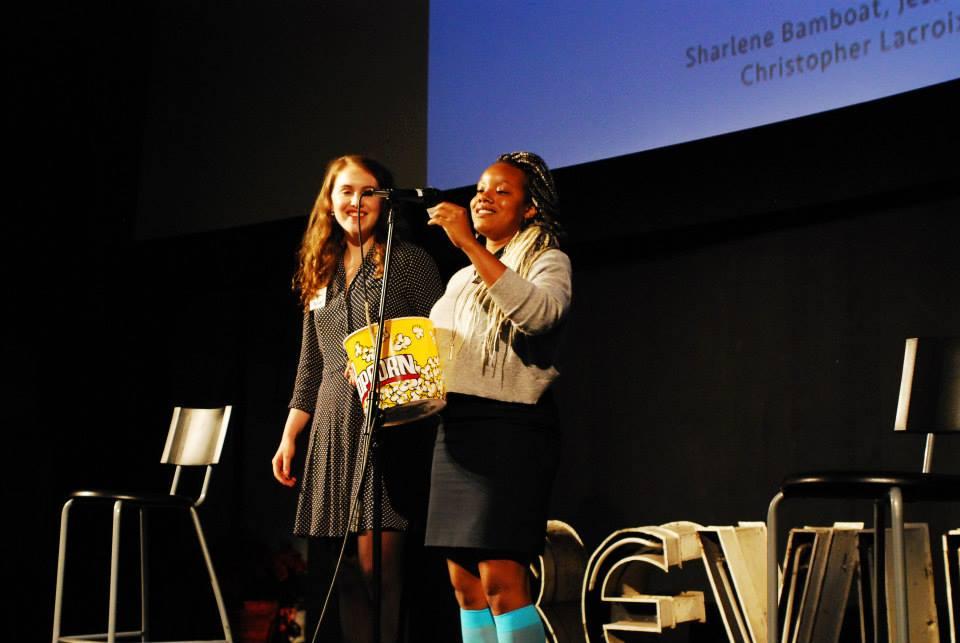 YTB Co-Founder Marjan Verstappen with Board Member Geneviève Wallen. Photo: Joan Lillian Wilson.