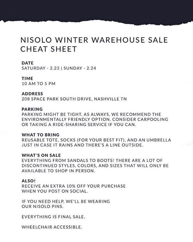⭐️All the info you need for the @nisoloshoes sale TODAY⭐️