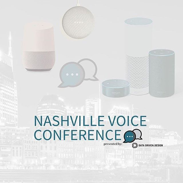 ⭐️Just announced⭐️ the Nashville Voice Conference hosted by @datadrivendesign on July 31st! Head over to their page to learn more & use our partner link for a discount on registration! https://nashvillevoiceconference.com/nfa/