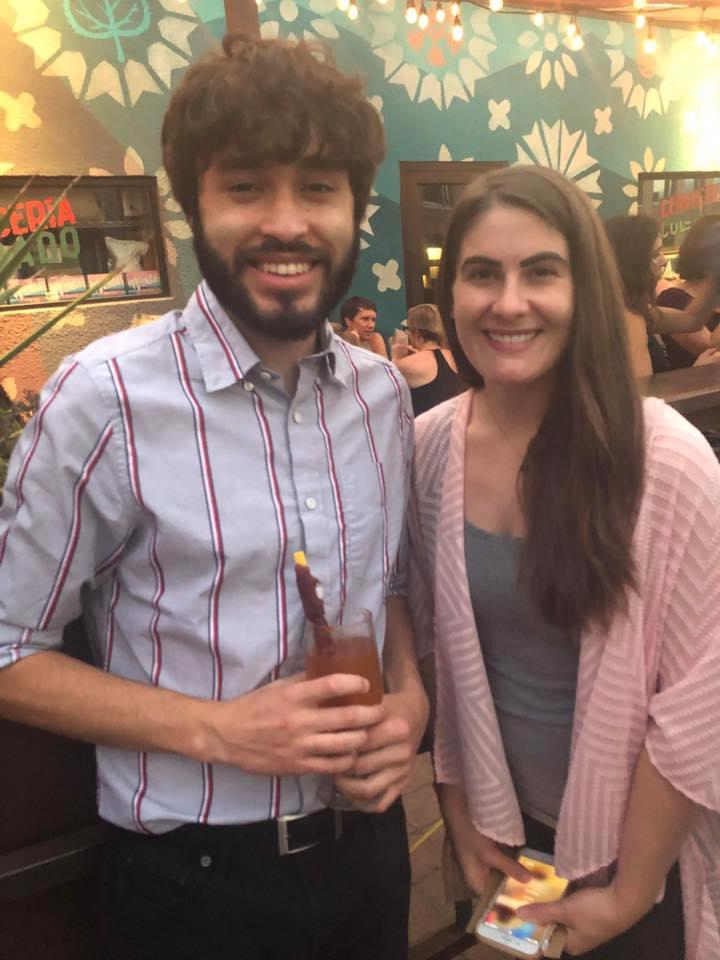 Intern Mauricio and Sarah Jackson