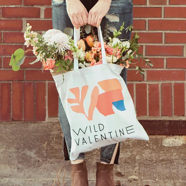 Brand identity, custom typeface, and shapes on shapes on shapes for @wildvalentine.co.