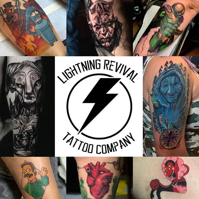 ⚡️GUEST ARTIST⚡️ All next week we will have our good pal X aka: @brushesofdoom here at LRTC! He's traveling allllll the way from Cali; be sure to show him some West Michigan love and snag an appointment with him ❤️⚡️ Sharing this would be much appreciated! #lrtc #lightningrevival #lightningrevivaltattoo #lightningrevivaltattoocompany #lightningrevivaltattooco #byroncenter #byroncentermi #grandrapids #gr #grandrapidsmi #grandrapidstattoo #westmichigan #westmi #michigander #guestartist