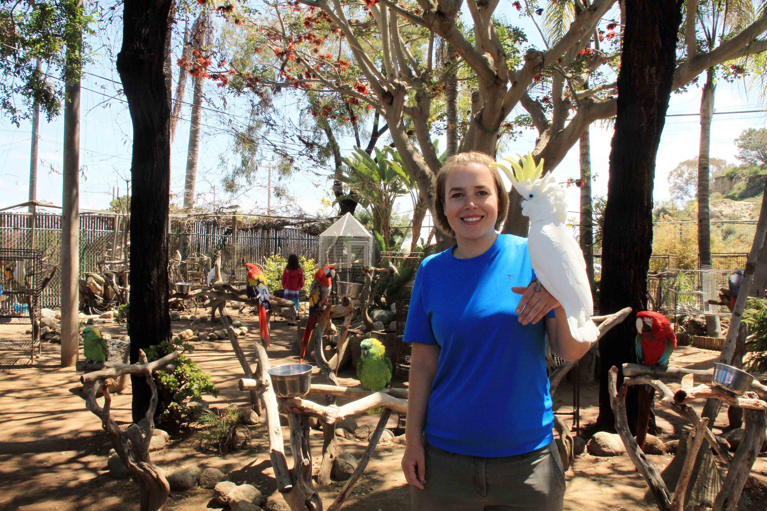 Volunteer Cara with Jesse