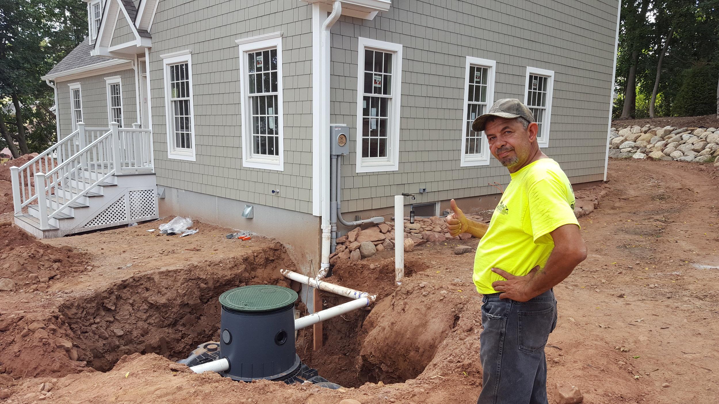 Rain Water Retention Tank installed at 4 Gates Lane
