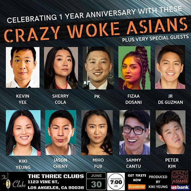 LA!!! @crazywokeasians this Sunday 6/30 7pm at @threeclubs. DM or comment for more info!
