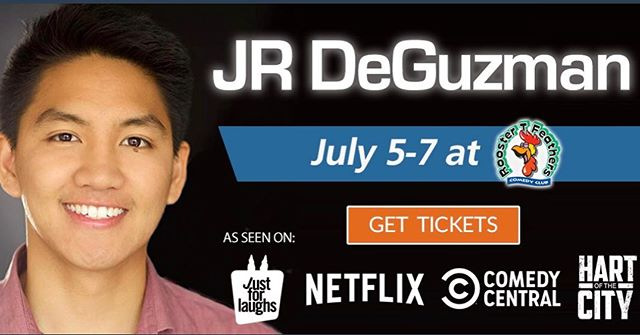 Bay Area! Sunnyvale, CA at Rooster T's July 5-7 making rich tech people laugh. Do they laugh the way us peasants laugh? Come find out this weekend! @roostertf #comedy #tech #richpeoplelaughs #tour #jrdguz