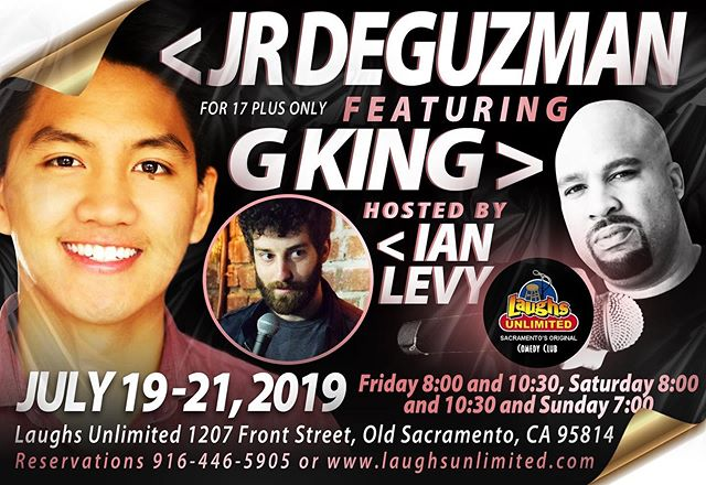 Sacramento! @laughsunlimited July 19-21 Fri-Sun! Come hang