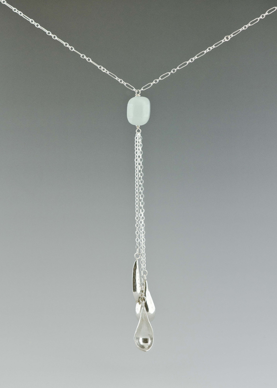 sterling silver and chalcedony