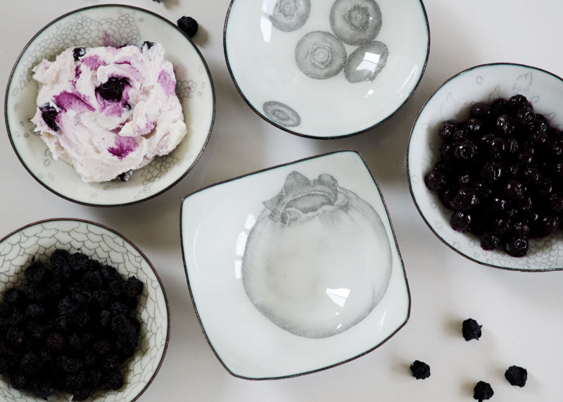 Speaking of local farms… Inspired by Bow Hill Blueberries , these berry bowls go great with Bow Hill's pickled blueberries for a unique treat.