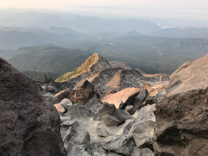 Epic view on the way up to the peak of Mt St Helens