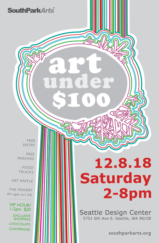 The 14th (and possibly last) annual Art Under $100 Holiday Sale.