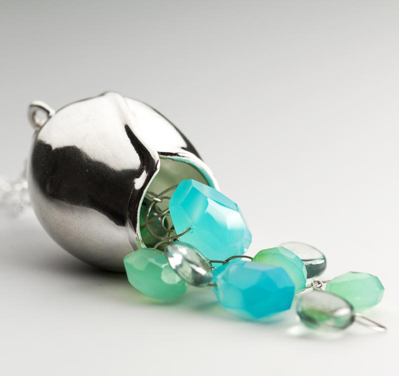 silver pod blue gemstone-CG Sculpture Jewelry.jpg