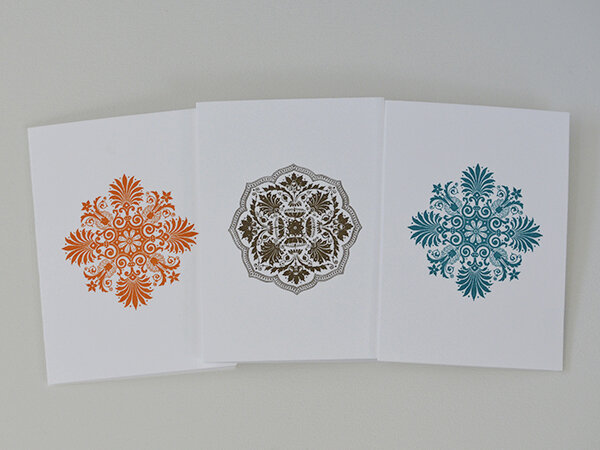 These cards are lovely for any occasion. I always keep a few of these on hand when I want to send a special note to someone to say thank you or sometimes for no reason at all, except to share the beauty.