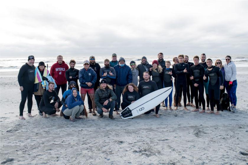 The Warrior Surf Foundation crew on Veteran's Day 2017.