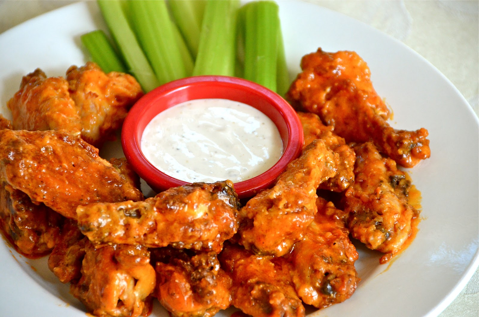 Buffalo Wings Labeled for Reuse