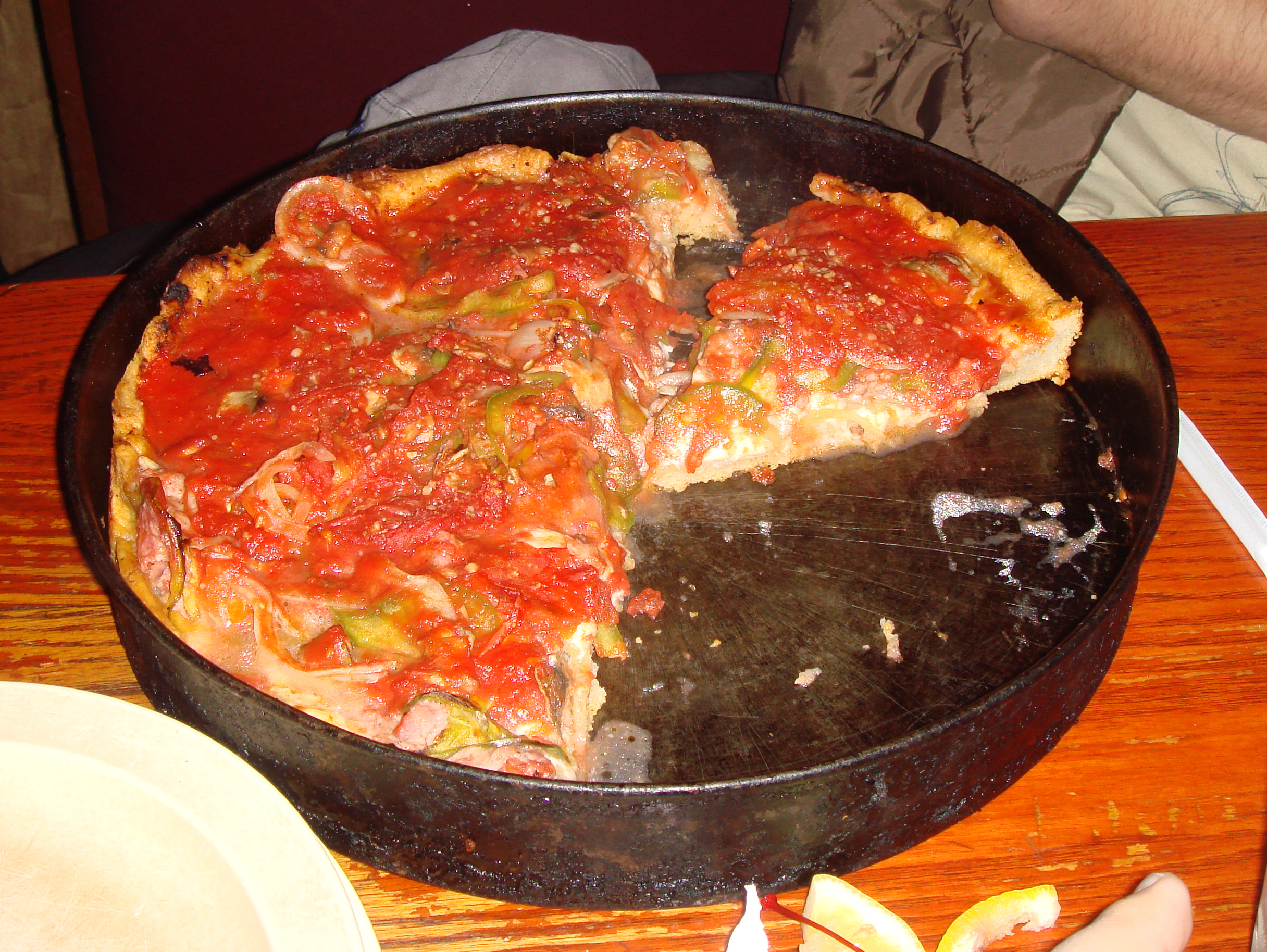 Chicago Pizza Labeled for Reuse