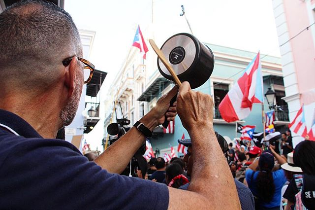 Food, music, self defense, protests...is there anything that we don't use our pots and pans for? Lol 🇵🇷