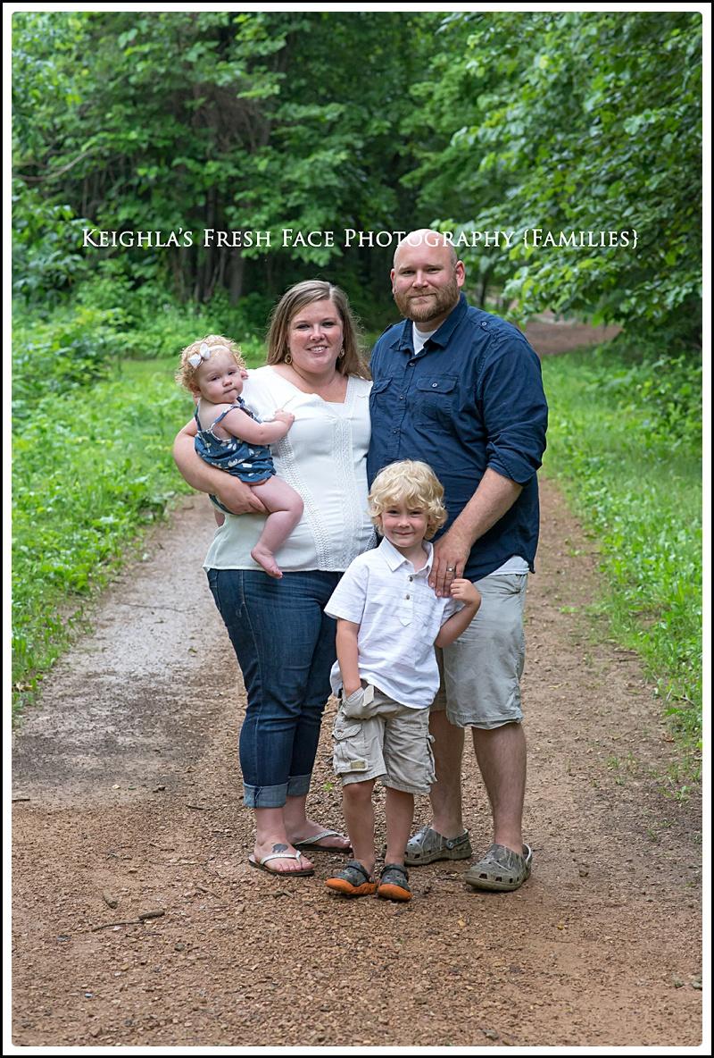 rainy day family of four chaska