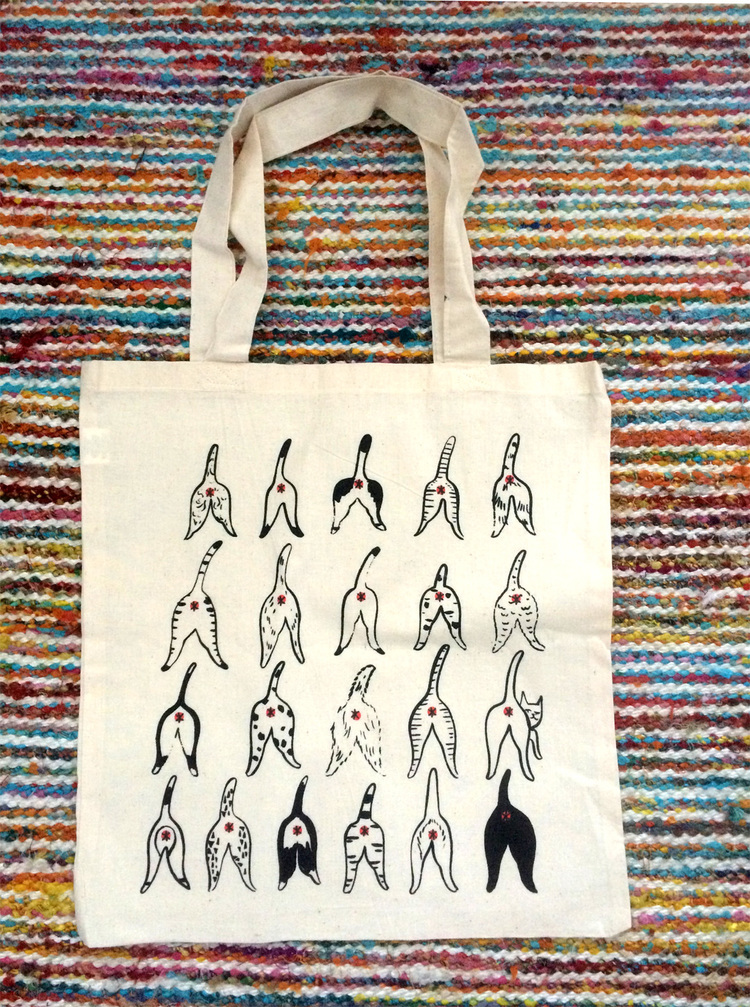 Cat Butt Tote by Kimmy Makes Things