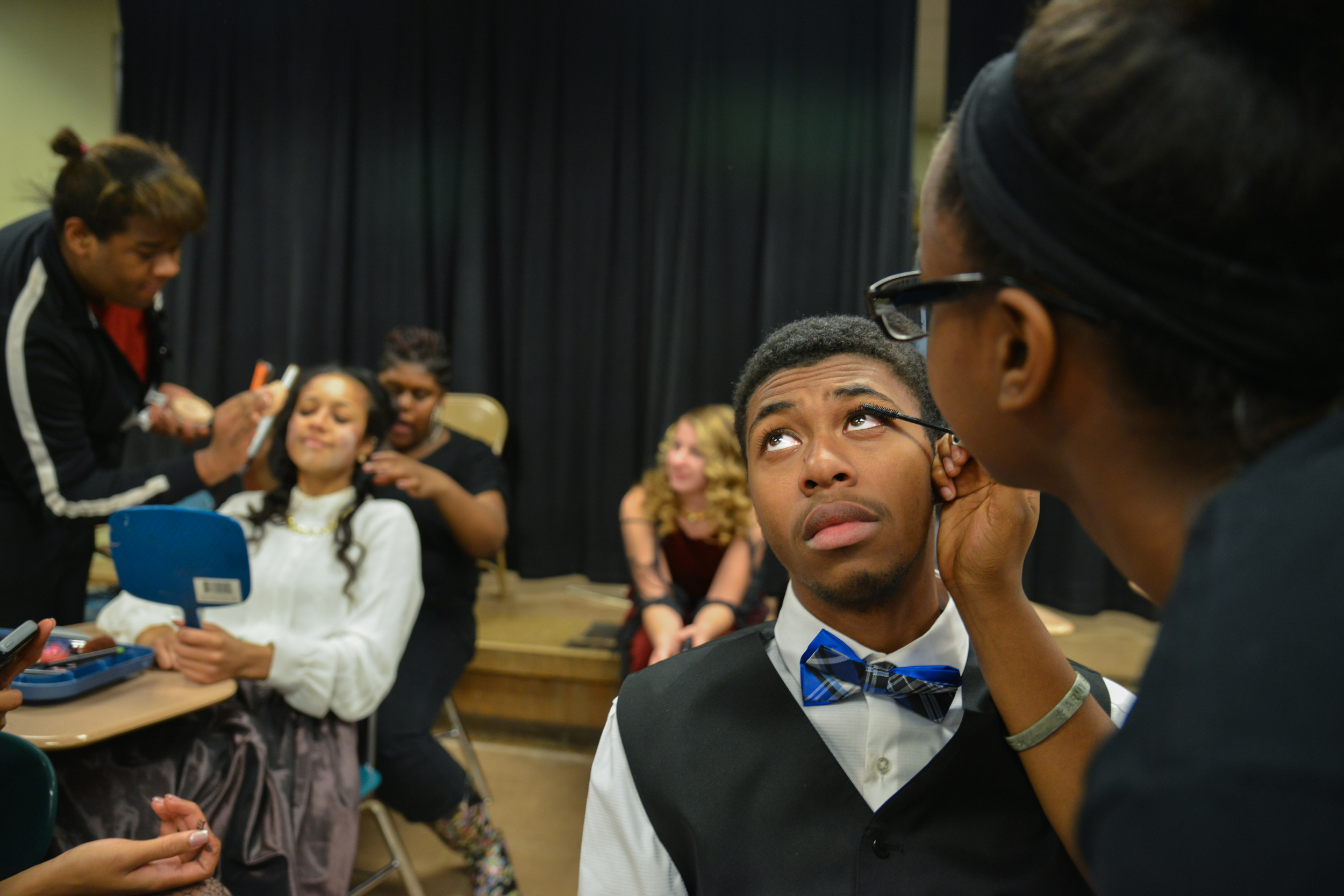 In addition to cheerleading, Kenneth runs track,serves as the treasurer for the student government and is actively involved in East Detroit's theater program.